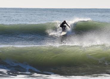 Surfer Green Waves