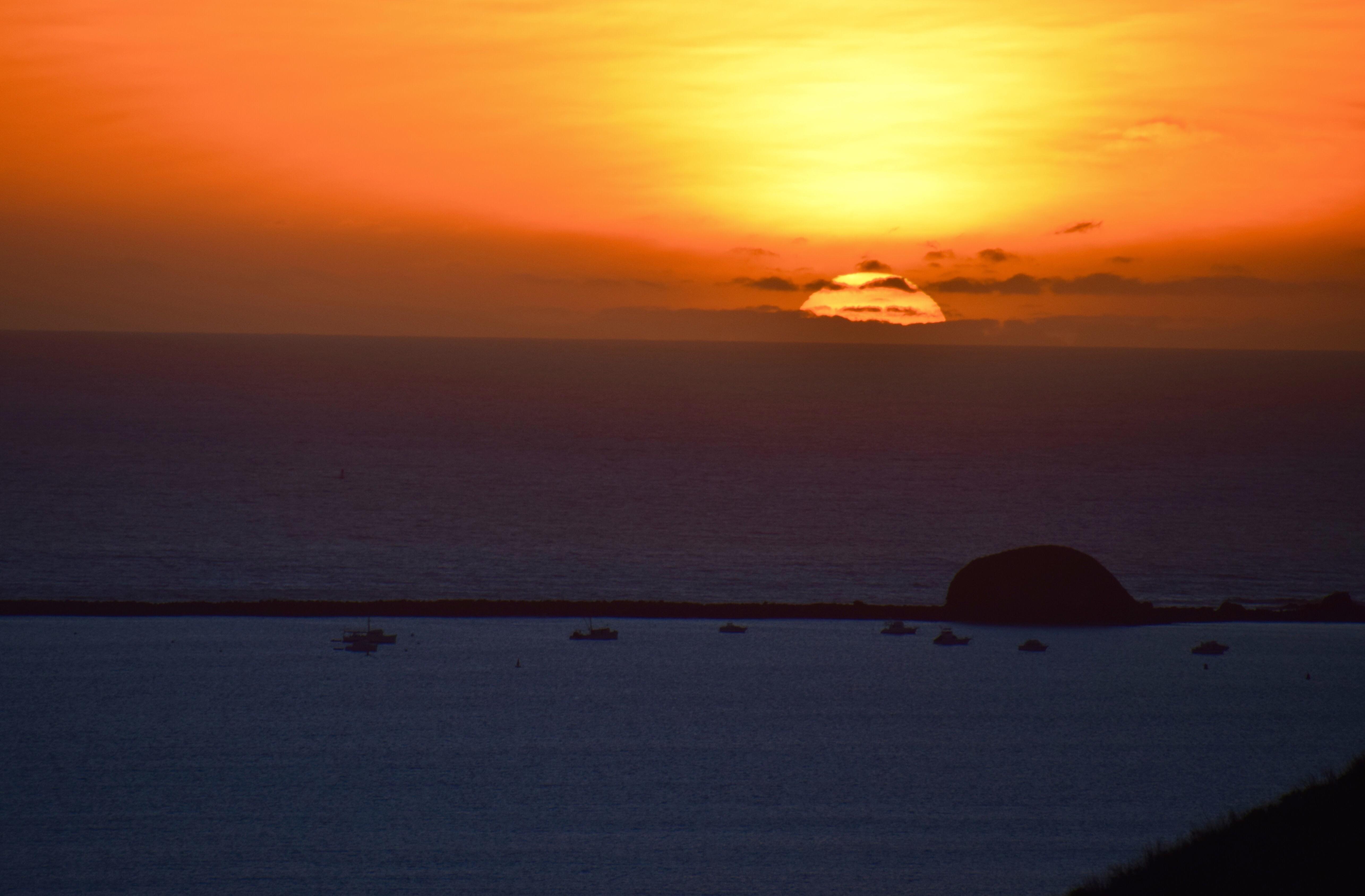 sunset in Avila Beach