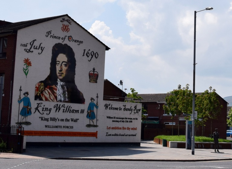 Mural of William Prince of Orange in Belfast