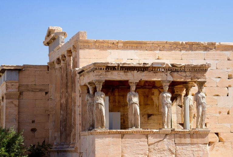 Front view of Erechtheion Temple