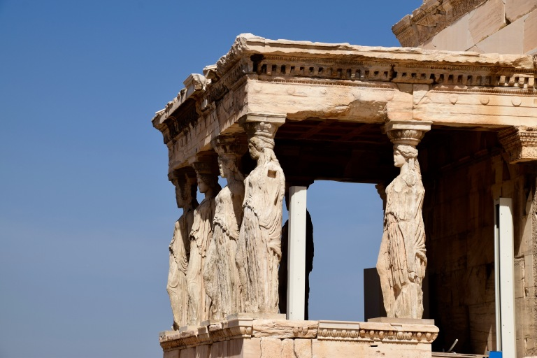 The Caryatid Porch as part of the Erechtheion as part of the Acropolis.